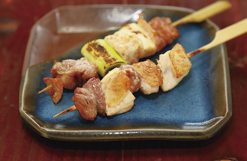比内地鶏正肉串・ねぎ間串