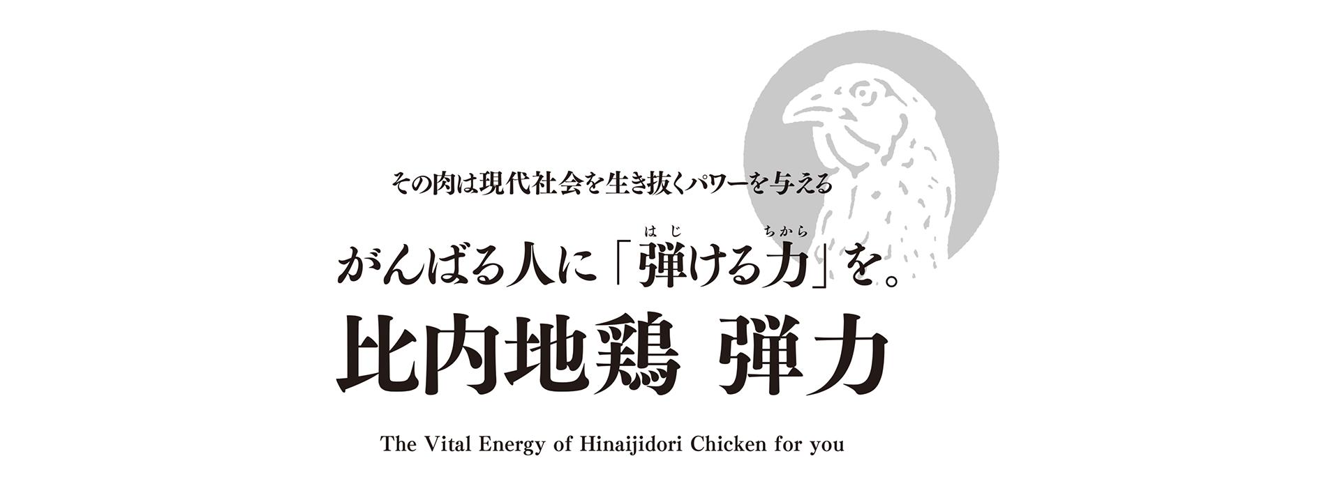 その肉は現代社会を生き抜くパワーを与える がんばる人に「弾ける力」を。比内地鶏 弾力