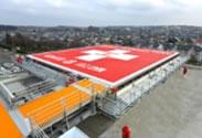 秋田大学付属病院に建設したヘリポートや防災備蓄倉庫を備えた立体駐車場)