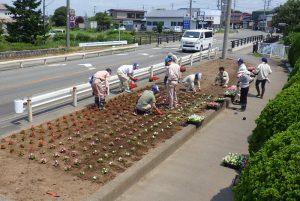 敷地内の花壇整備