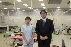左:七尾奈美さん 右:事業管理部 玉井次長