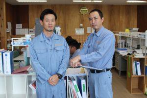 左:角田慎太郎さん 右:総務部係長 斉藤さん