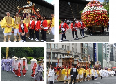 日枝神社・神幸祭に参加しました