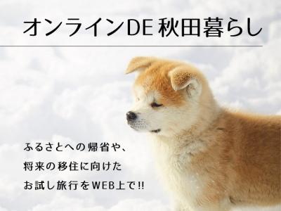 「オンラインDE秋田暮らし」オープン!!