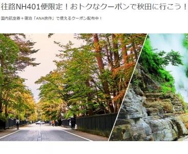 羽田空港からお得なクーポンで秋田に行こう!