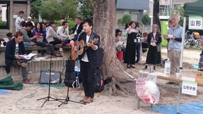 第9回東北芋煮会(福岡市)で秋田県民歌
