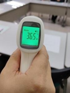 ★非接触型赤外線温度測定器を準備して会議開催★