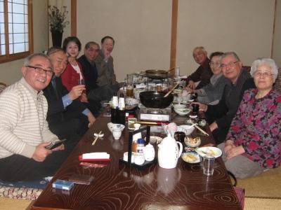 秋田名物きりたんぽ鍋で親睦会